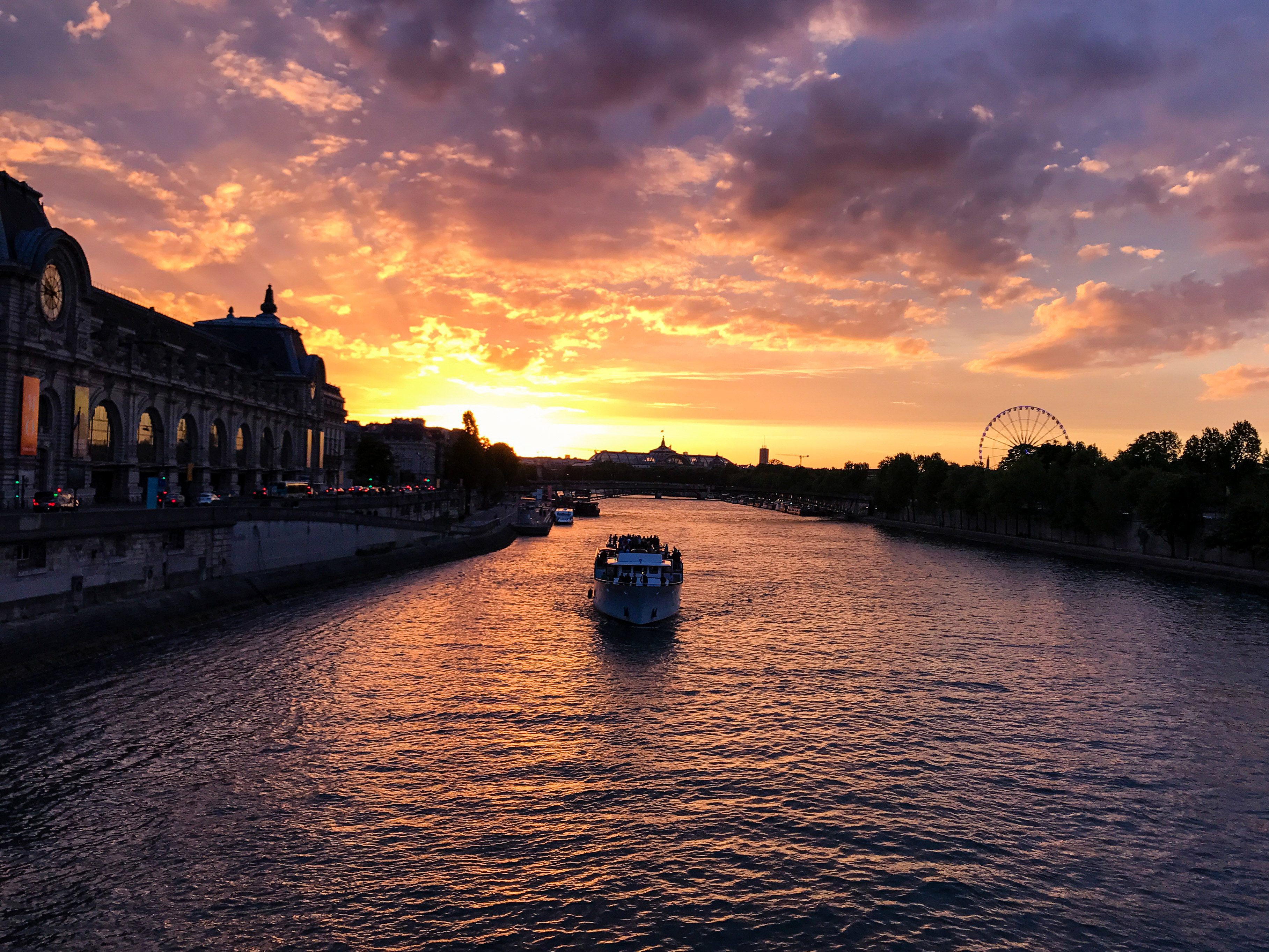 Sunset on the Seine River