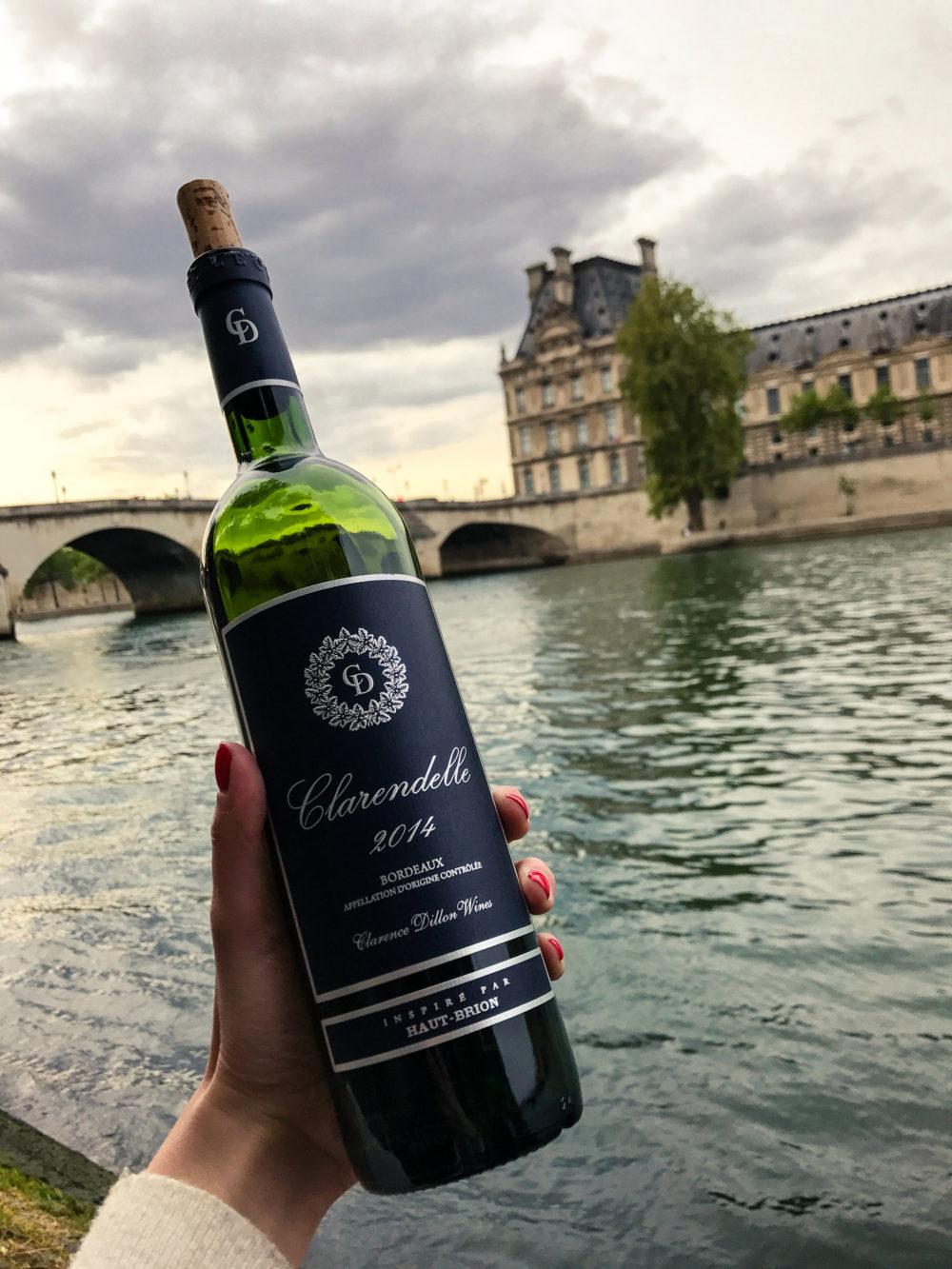 Drinking Wine Along the Seine