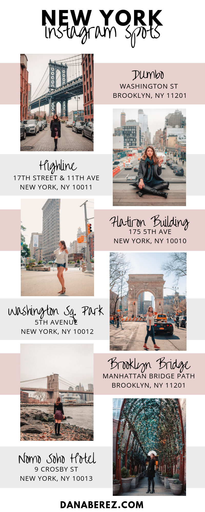 The 10 Best Instagram Spots in NYC- NYC Most Instagramable Dana Berez