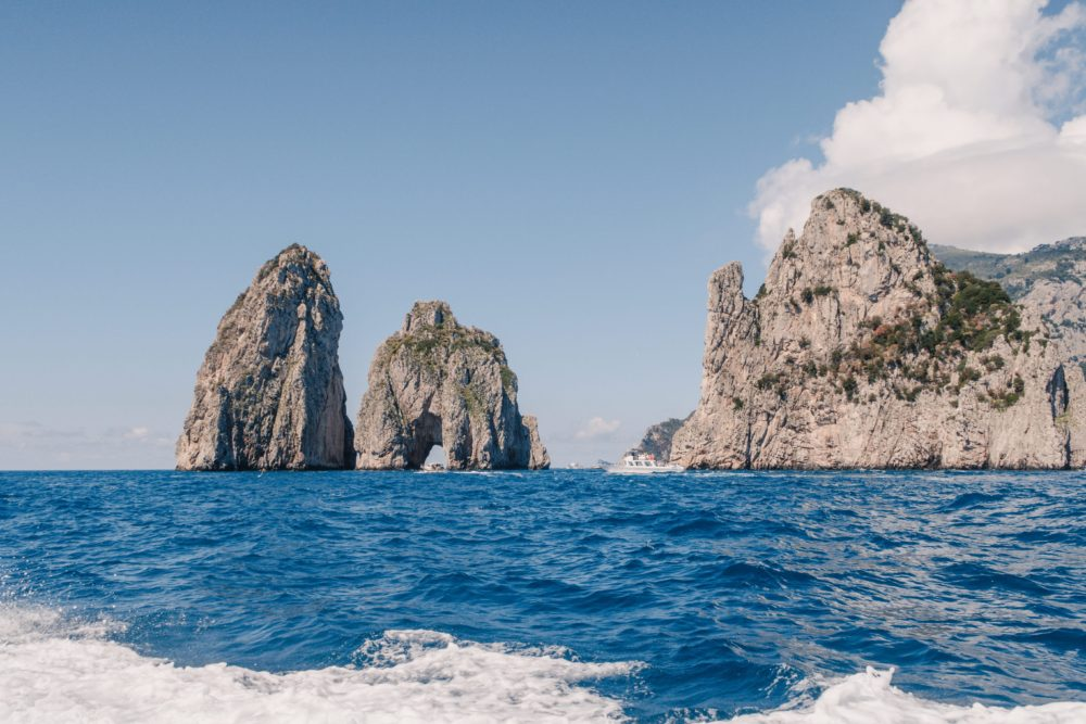Day Trip to Stunning Capri, Italy | 9 Things You Shouldn't Miss: boating around | Dana Berez Travel