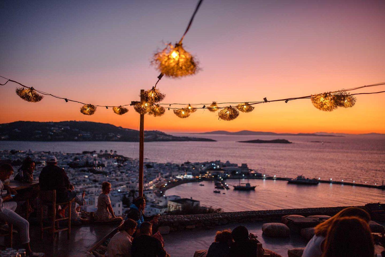 Mykonos 180 Sunset Bar View