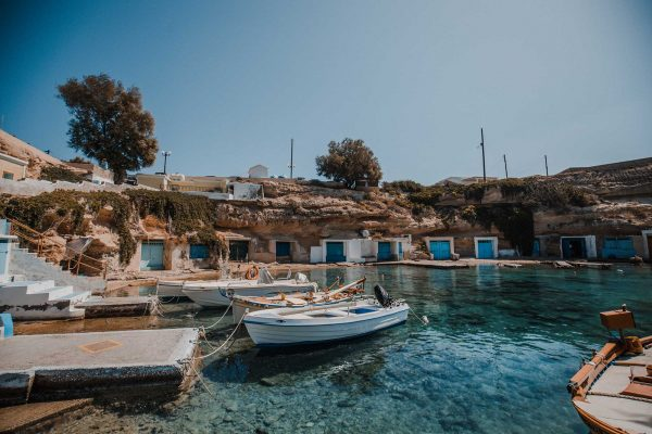 7 Best Beaches in Milos Greece | Milos Beach Guide - Dana Berez Greece Travel Guide. Mandrakia Beach Greece