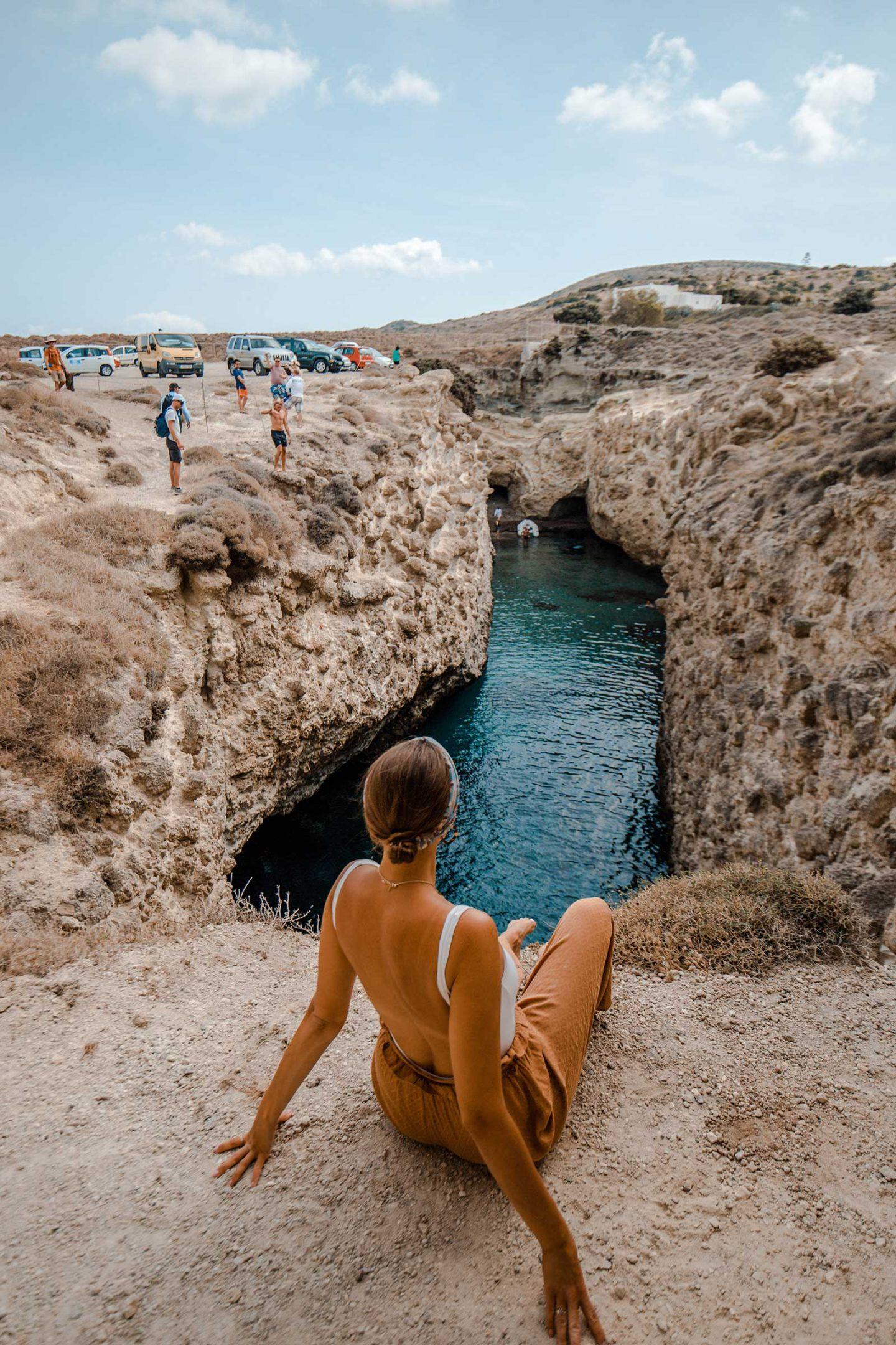 Papafragas Beach in Milos