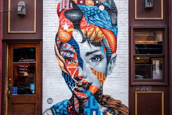 Audrey Hepburn Mural NYC