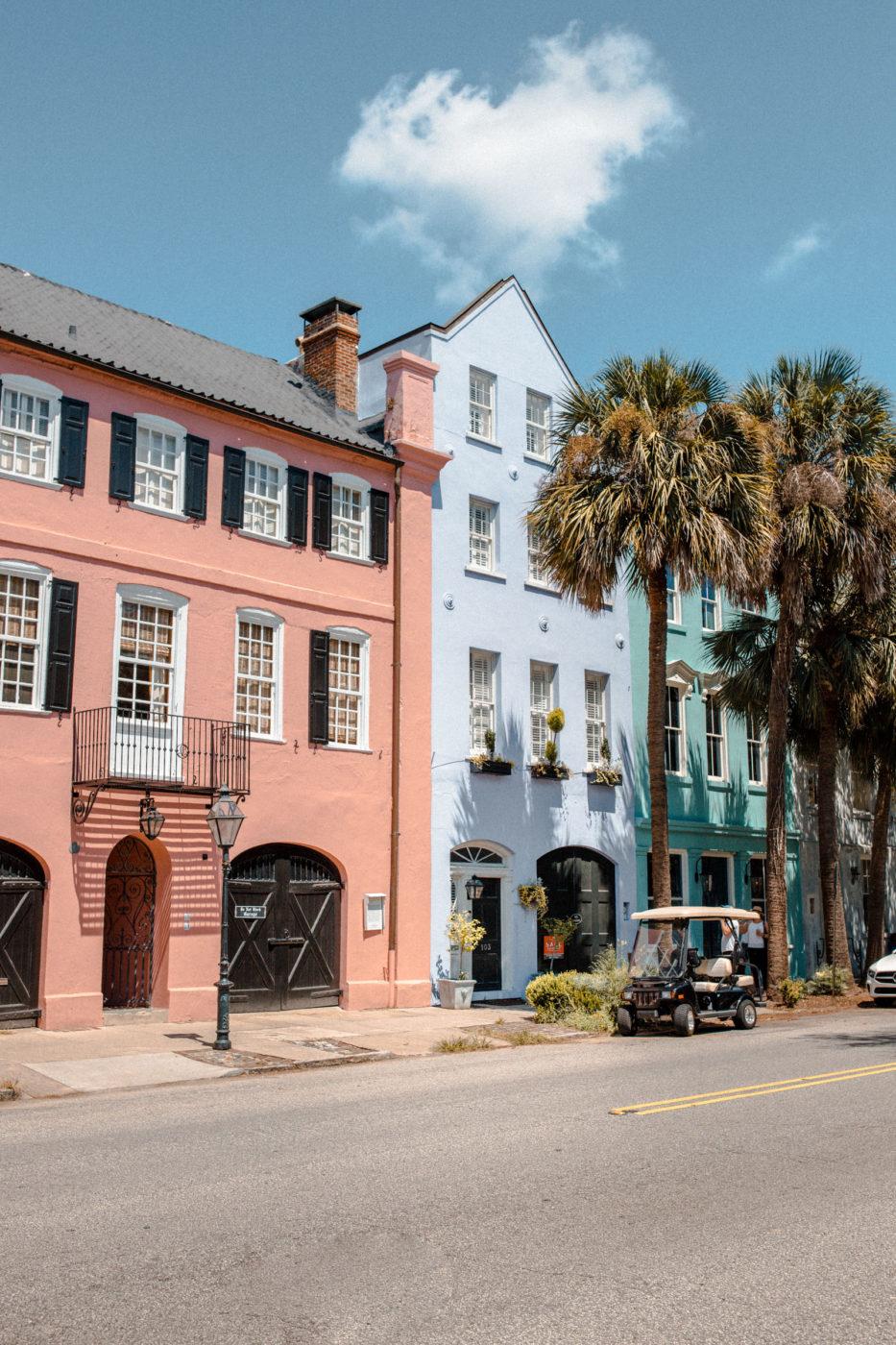 Charleston South Carolina Rainbow Row