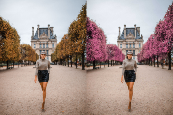 Easy Photoshop Tutorial. How to Change Leaf Color in 5 simple steps.