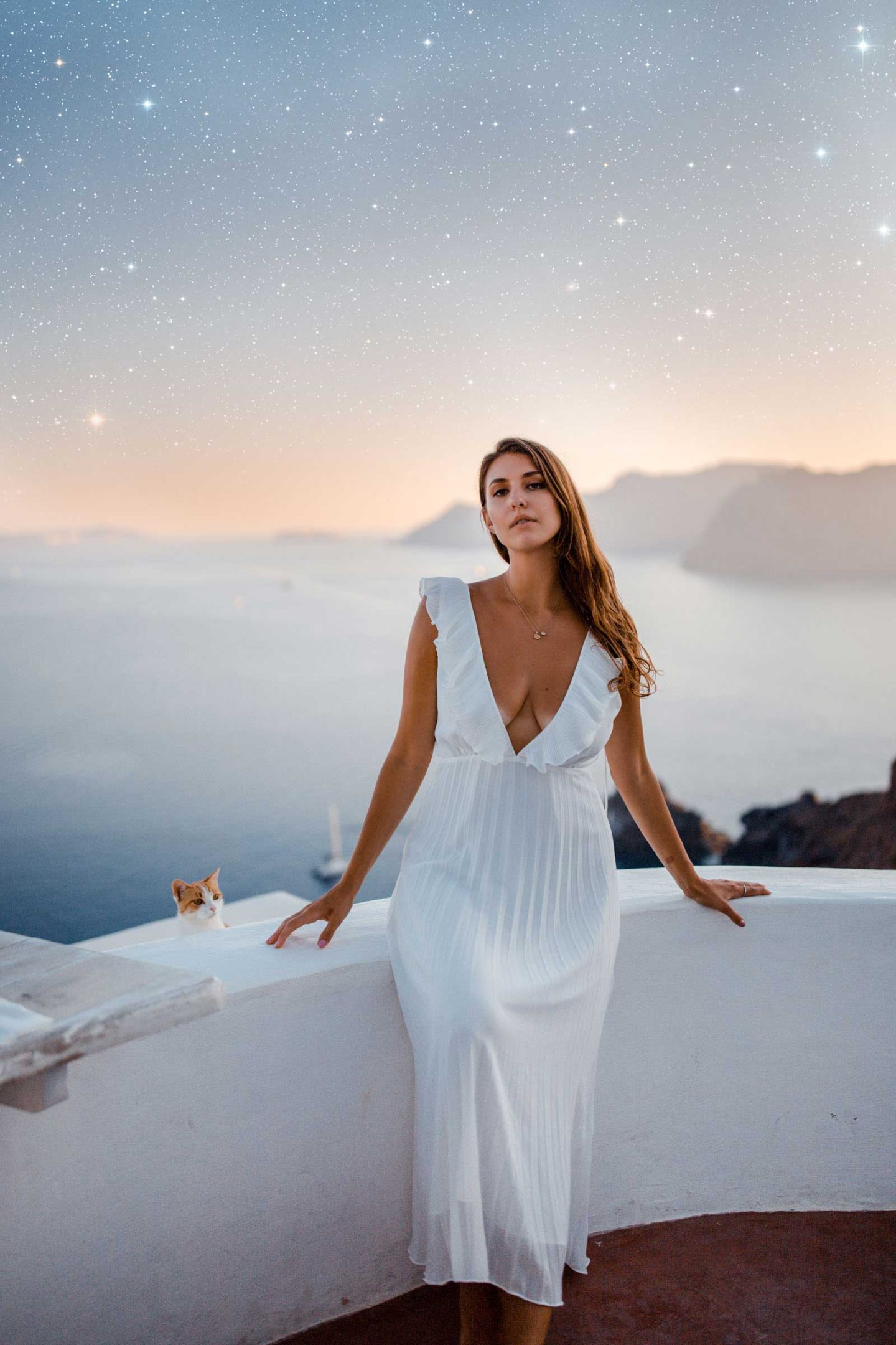 I will show you how to add Stars fast and easy. Photoshop Tutorial under 5 simple steps! Perfect for adding stars to your Instagram photos. Photoshop tutorial for beginners. Santorini Sunset