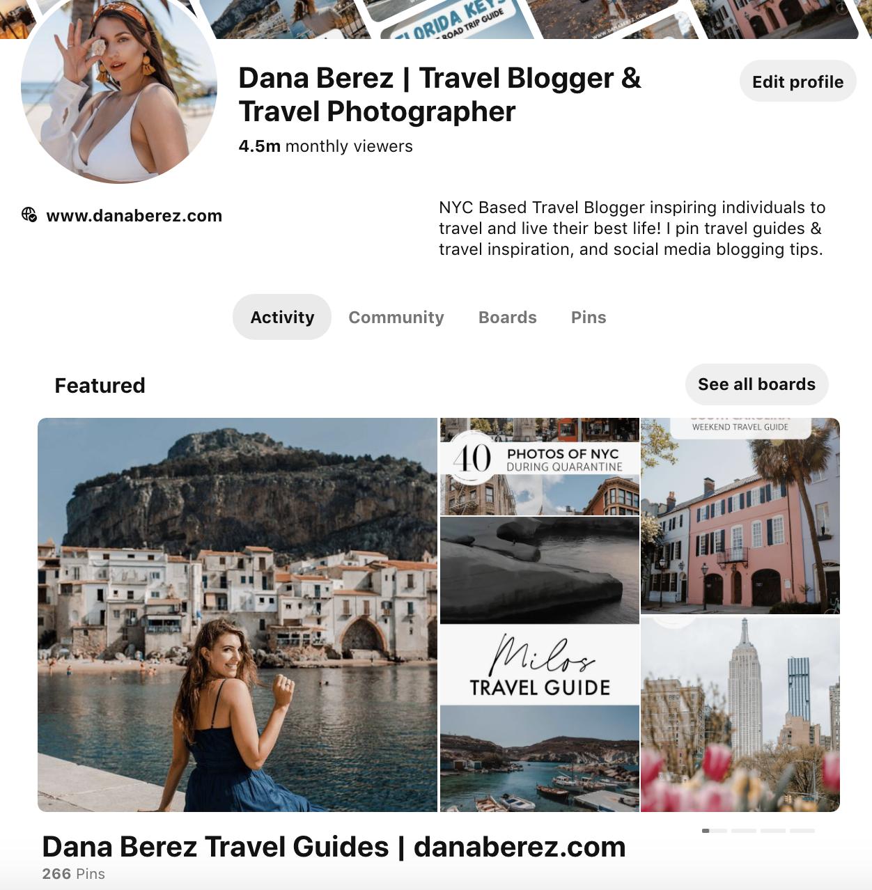 Pinterest Feature Board Dana Berez