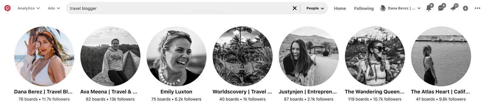 Pinterest Travel Blogger
