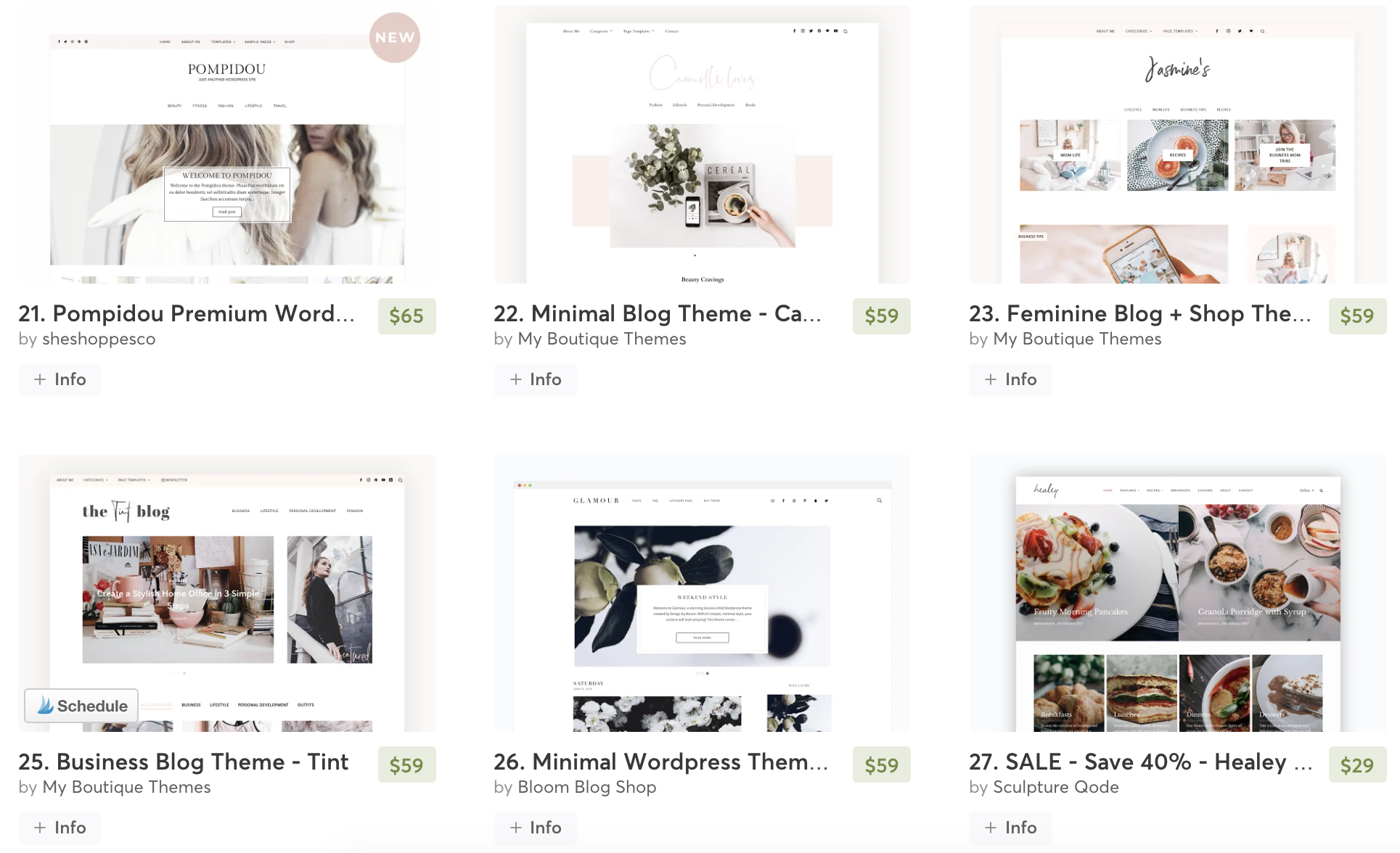 Creative Market Website Themes for bloggers.