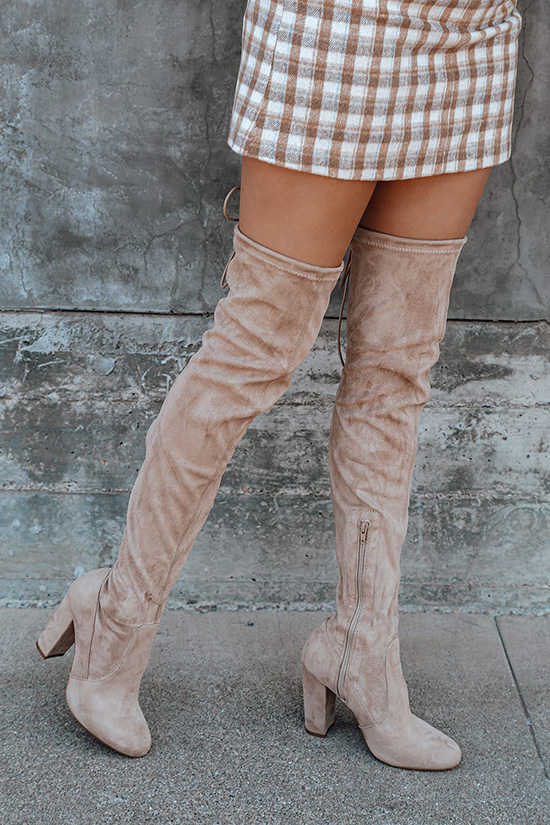 white over the knee boots