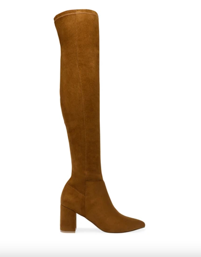 brown over the knee boot