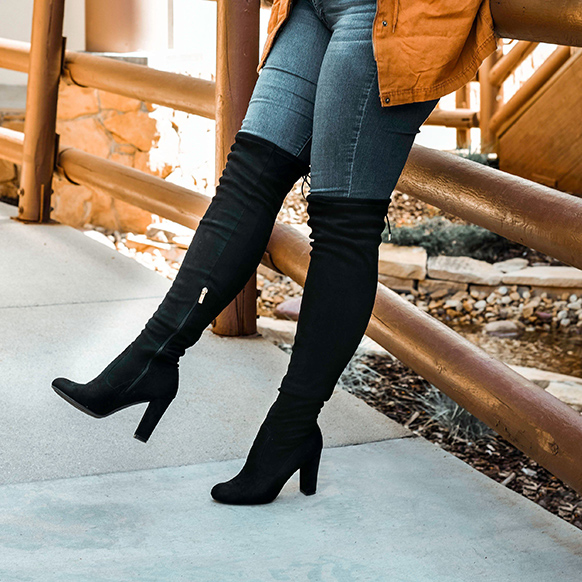 over the knee boots for wide calf